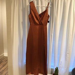 Pretty rust orange dress
